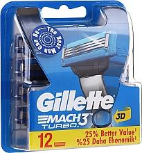 Parfumuri și produse cosmetice Casete de rezervă pentru aparat de ras, 12 buc. - Gillette Mach3 Turbo