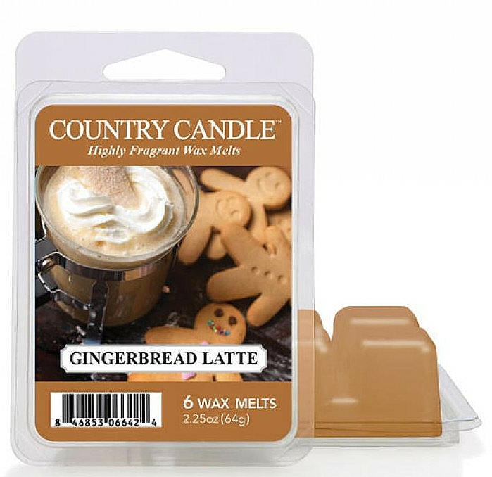 Ceară pentru lampă aromată - Country Candle Gingerbread Latte Wax Melts — Imagine N1