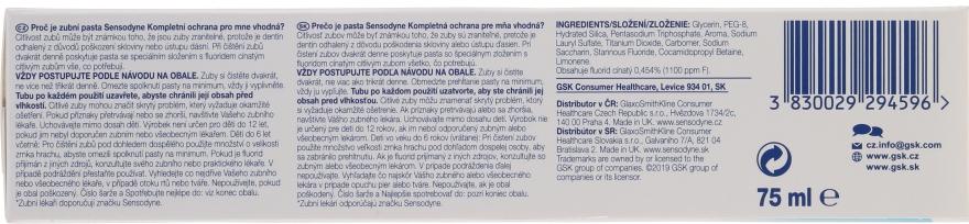 """Pastă de dinți """"Protecție completă"""" cu fluor - Sensopdyne Toothpaste — Imagine N2"""