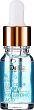 Parfumuri și produse cosmetice Ser intensiv anti-îmbătrânire cu acid hialuronic pentru față și gât - Delia Face Care Hyaluronic Acid Face Neckline Intensive Serum