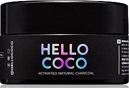 Praf cu efect de albire pentru dinți - Hello Coco Sweet Mint Activated Natural Charcoal Teeth Whitener — Imagine N1