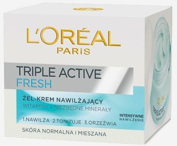 Gel cremă pentru piele normală și mixtă - L'Oreal Paris Triple Active Day — Imagine N2