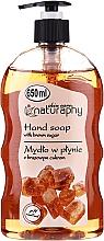 Parfumuri și produse cosmetice Săpun cu zahăr brun - Bluxcosmetics Naturaphy Hand Soap With Brown Sugar
