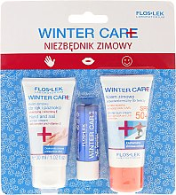 Parfumuri și produse cosmetice Set - Floslek Winter Care (cr/30ml + h/cr/30ml + lipstick)