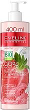 Parfumuri și produse cosmetice Cremă hidratantă de iaurt pentru netezirea corpului - Eveline Cosmetics 99% Natural Strawberry