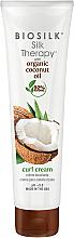 Parfumuri și produse cosmetice Cremă pentru păr - BioSilk Silk Therapy Organic Coconut Oil Curl Cream