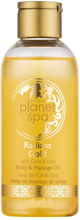 Ulei de corp și pentru masaj, iluminator cu sclipici - Avon Planet Spa Radiant Gold Body and Massage Oil