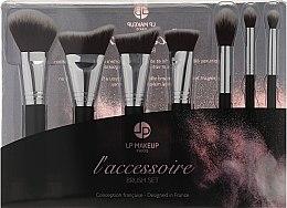 Parfumuri și produse cosmetice Set pensule de machiaj, 7 buc. - LP Makeup Set Of Seven Professional Brushes L'accessoire With Leather Bag