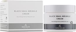 Parfumuri și produse cosmetice Cremă hrănitoare cu colagen și mucină de melc negru - The Skin House Black Snail Wrinkle Cream