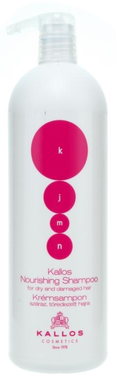 Șampon nutritiv și regenerant pentru păr uscat sau deteriorat - Kallos Cosmetics Nourishing Shampoo For Dry And Damaged Hair — Imagine N3
