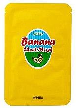 Parfumuri și produse cosmetice Mască de față cu extract de banană și miere - A'Pieu Sweet Banana Sheet Mask
