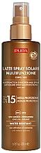 Parfumuri și produse cosmetice Lapte de protecție solară pentru față și corp SPF15 - Pupa Multifunction Sunscreen Milk Spray