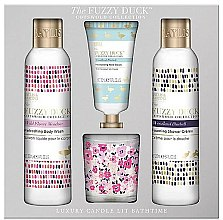 Parfumuri și produse cosmetice Set - Baylis & Harding The Fuzzy Duck Cotswold Floral Candle Set (sh/gel/250ml + b/lot/250ml + h/cr/30ml + candle/60g)