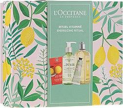 Parfumuri și produse cosmetice Set - L'Occitane Energizing Ritual (f/scr/6ml + micel/water/200ml + sh/gel/250ml + h/cr/30ml)