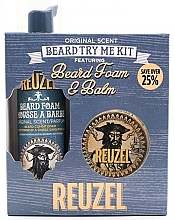 Parfumuri și produse cosmetice Set - Reuzel Original Scent Beard Try Me Kit (balm/35g + foam/70ml )