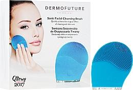 Parfumuri și produse cosmetice Perie fonică pentru curățarea feței, albastră - DermoFuture Sonic Facial Cleansing Brush