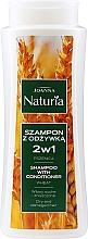 Parfumuri și produse cosmetice Șampon-Balsam cu grâu pentru păr uscat și vopsit - Joanna Naturia Shampoo With Conditioner With Wheat