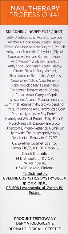 Întăritor pentru unghii - Eveline Cosmetics Nail Therapy Professional Protein Extreme Growth — Imagine N3
