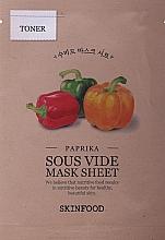 Parfumuri și produse cosmetice Mască din țesătură cu ardei pentru față - Skinfood Paprika Sous Vide Mask Sheet
