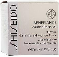 Cremă regenerantă pentru pielea uscată - Shiseido Benefiance Intensive Nourishing and Recovery Cream  — Imagine N2