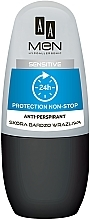 Parfumuri și produse cosmetice Deodorant roll-on - AA Men Protection Non-Stop 24h Anti-Perspirant Sensitive