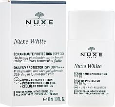 Parfumuri și produse cosmetice Soluție protecție solară pentru față - Nuxe White Daily UV Protector SPF30 PA+++