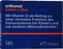 "Parfumuri și produse cosmetice Vitamine, granule drepte "" Zmeură Lime"", 7 zile - Orthomol Junior C Plus"