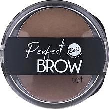 Parfumuri și produse cosmetice Set farduri pentru sprâncene, cu aplicator - Bell Perfect Brow Set