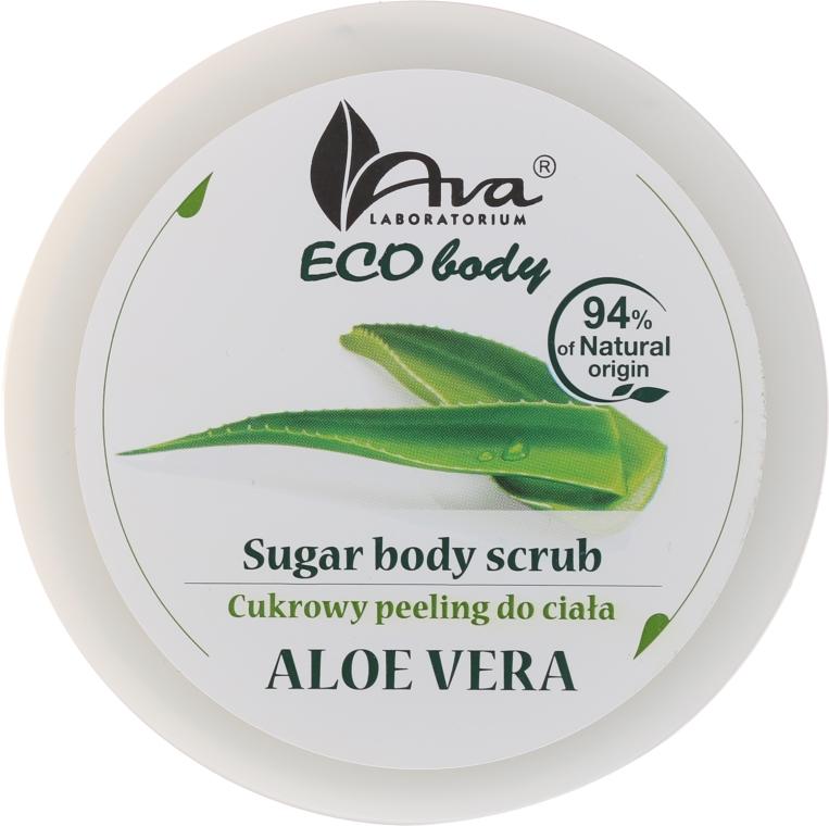 """Scrub pentru corp """"Aloe Vera"""" - Ava Laboratorium Eco Body Natural Sugar Scrub Aloe Vera — Imagine N1"""