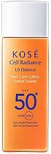 Parfumuri și produse cosmetice Loțiune cu protecție solară SPF 50 - KOSE Cell Radiance UV Defencer Sun Care Lotion SPF 50