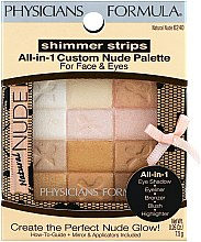 Parfumuri și produse cosmetice Paleta de machiaj - Physicians Formula Shimmer Strips All-In-1 Custom Nude Palette For Face & Eyes