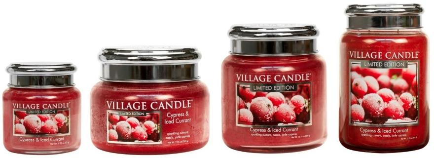 Lumânare aromată - Village Candle Cypress & Iced Currant Glass Jar — Imagine N3