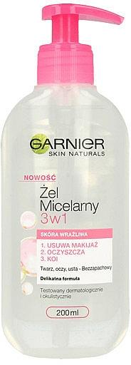 Gel micelar pentru pielea sensibilă - Garnier Skin Naturals Cleansing Micellar Gel