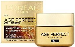 Parfumuri și produse cosmetice Cremă regenerantă de noapte - L'Oreal Paris Age Perfect Cell Renew Night Cream