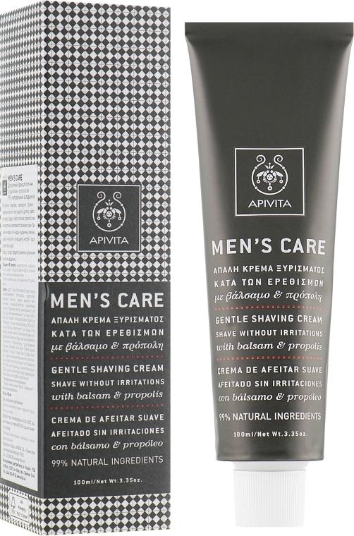Cremă delicată cu hypericum și propolis pentru ras - Apivita Men Men's Care Gentle Shaving Cream With Hypericum & Propolis — Imagine N1
