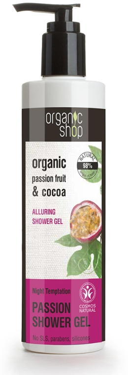 Gel de duș - Organic Shop Organic Cocoa and Passion Fruit Passion Shower Gel — Imagine N1