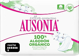 Parfumuri și produse cosmetice Absorbante igienice de noapte, 9 buc - Ausonia Cotton Protection