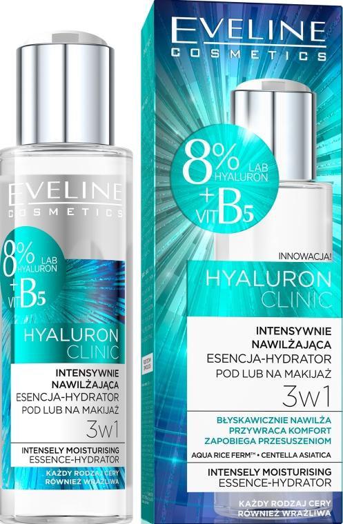 Esență pentru față, hidratantă - Eveline Cosmetics Hyaluron Clinic — Imagine N1