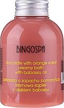 Parfumuri și produse cosmetice Spumă de baie cremoasă cu extract de ciocolată și portocală - BingoSpa