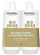 Set - Goldwell DualSense Rich Repair (shmp/1000ml + cond/1000ml) — Imagine N1