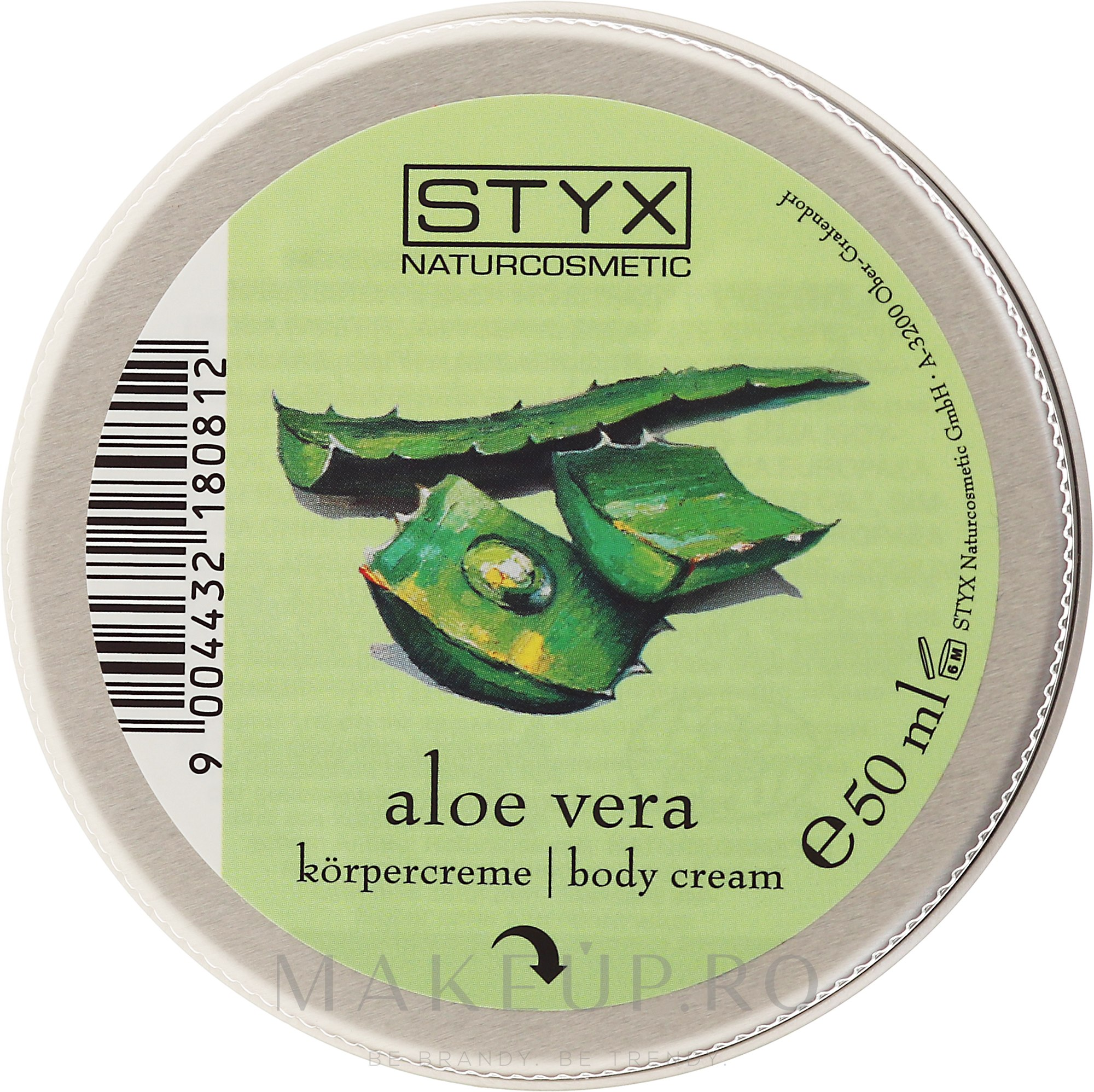 "Cremă de corp ""Aloe Vera"" - Styx Naturcosmetic Aloe Vera Body Cream — Imagine 50 ml"