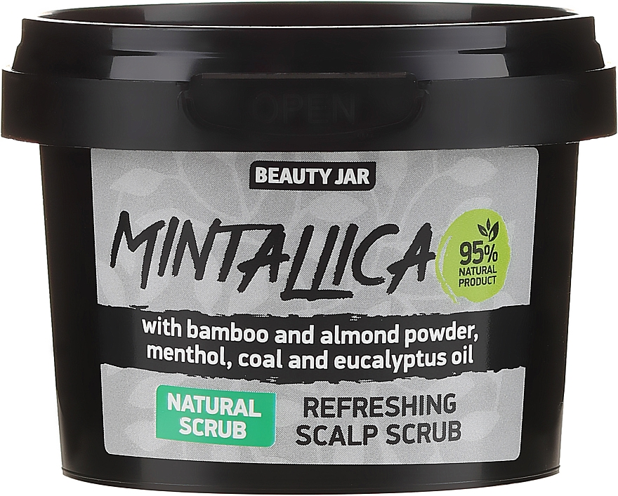 Scrub revigorant pentru scalp - Beauty Jar Mintallica Refreshing Scalp Scrub — фото N1