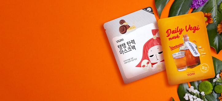 La achiziționarea produselor Yadah  începând cu suma de 59 RON, primești cadou o mască facială la alegere