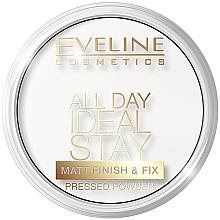 Parfumuri și produse cosmetice Pudră matifiantă de față - Eveline Cosmetics All Day Ideal Stay Matt Finish & Fix White-60
