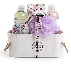 Parfumuri și produse cosmetice Set - IDC Institute (sh/g/200ml+foam/bath/200ml+b/scrub/50ml+bath/salt/100g+sponge)