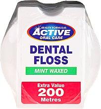 Parfumuri și produse cosmetice Ață dentară cu aromă de mentă - Beauty Formulas Active Oral Care Dental Floss Mint Waxed 200m
