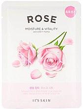 Parfumuri și produse cosmetice Mască de față - It's Skin The Fresh Rose Mask Sheet