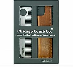 Parfumuri și produse cosmetice Set - Chicago Comb Co CHICA-1-SET (comb/1pcs + case/1pcs) (1buc)