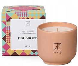 """Parfumuri și produse cosmetice Lumânare din soia """"Biscuiți cu migdale"""" - Mys Macarons Candle"""