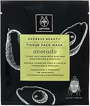 Parfumuri și produse cosmetice Mască hidratantă și calmantă de țesut pentru față - Apivita Express Beauty Tissue Face Mask Avocado